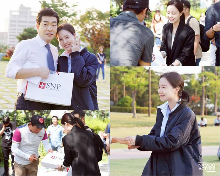 Một số hình ảnh của Moon Chae Won trên phim trường.