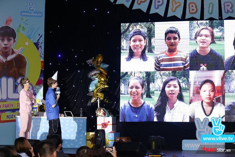 Các bạn trong FC thực hiện một đoan clip ngắn ghi lại hình ảnh mọi người cùng nhau hát Chúc mừng sinh nhật kèm lời chúc ý nghĩa gửi đến thần tượng