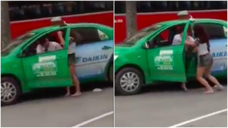 Cô gái trẻ nấp sau cánh cửa ô tô cầu cứu nhưng bị đuổi đi.