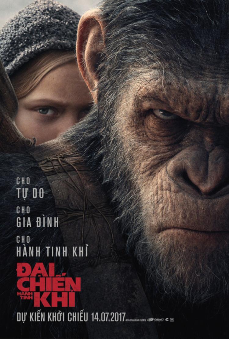 Hành tinh khỉ vượt mặt Người Nhện tại Mỹ nhưng vẫn xếp sau Cô gái đến từ hôm qua tại Việt Nam