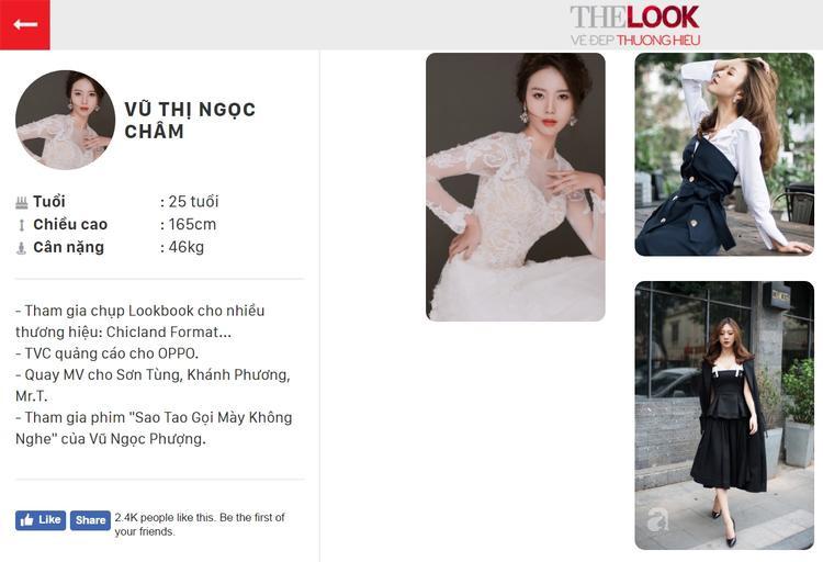 Profile đăng ký The Look Online 2017 của Ngọc Châm. Bạn có thể bình chọn cho Ngọc Châm tại đây.