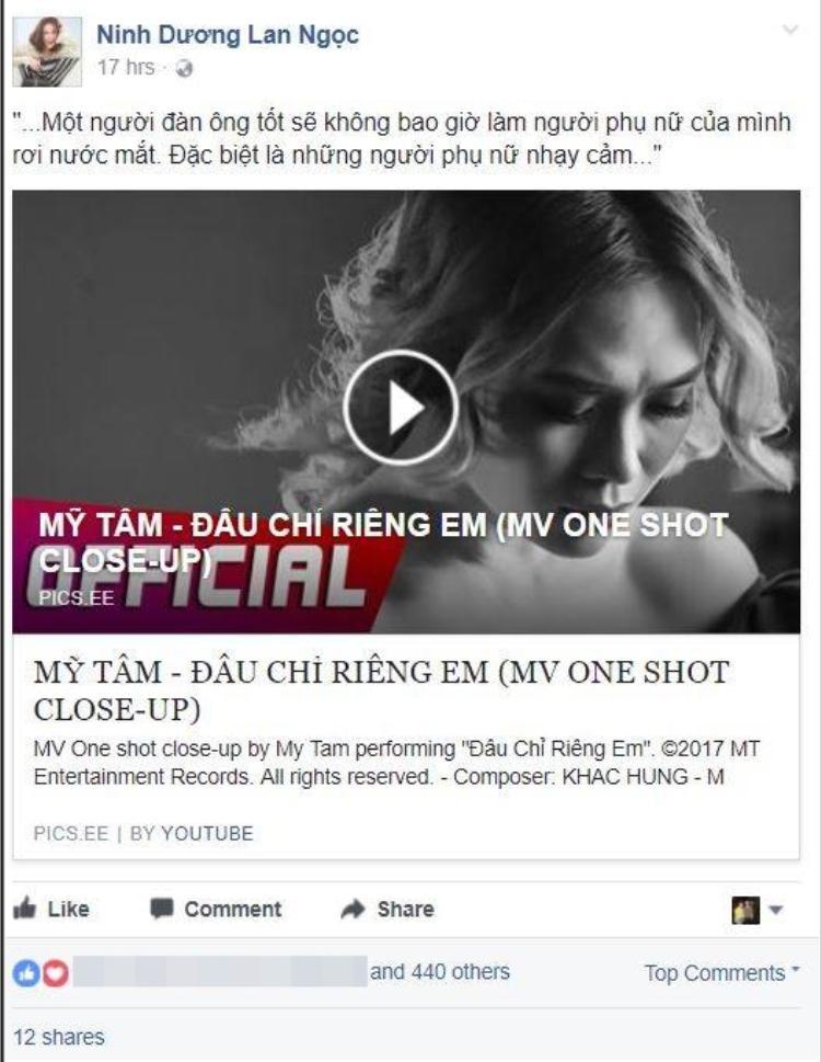 Dòng tâm sự của Ninh Dương Lan Ngọc với MV mới từ Mỹ Tâm.