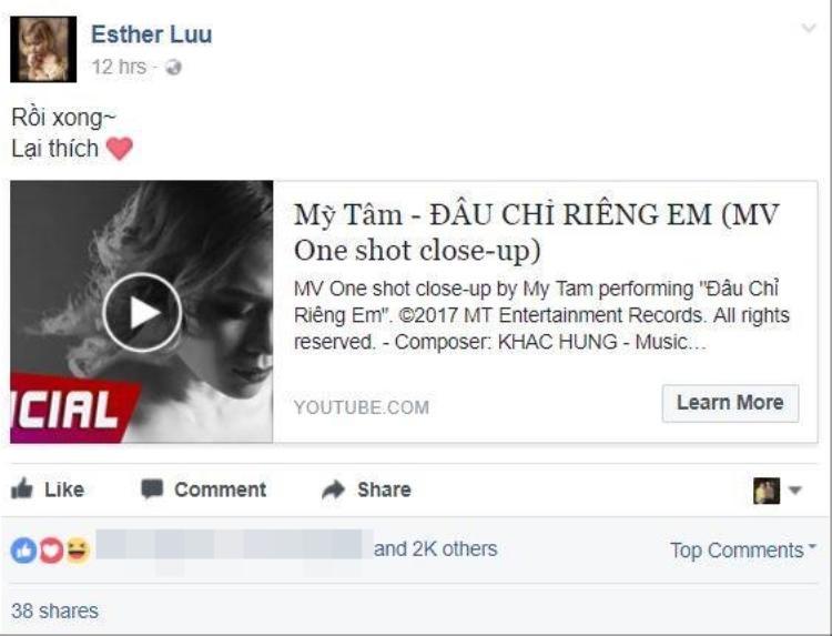 """Hari Won chia sẻ MV với dòng tự sự ngắn gọn: """"Rồi xong! Lại thích""""."""