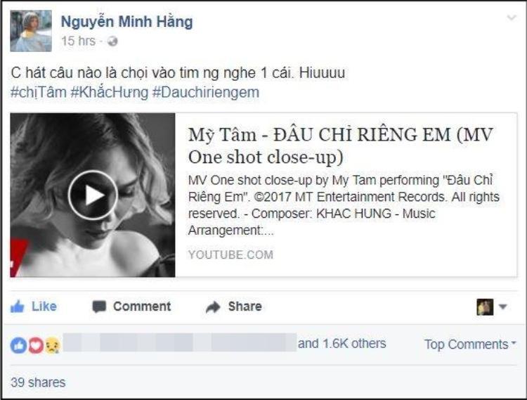 """Nữ ca sĩ Min không ngần ngại khẳng định: """"Mỹ Tâm hát câu nào là chọi vào tim người nghe câu đó""""."""