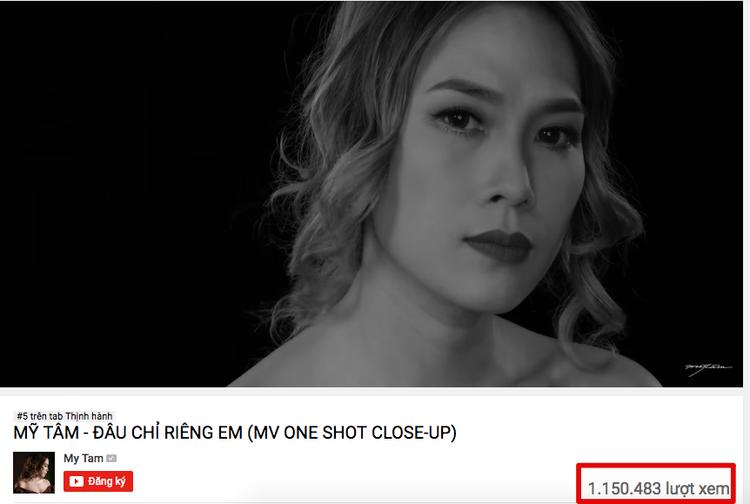 MV Đâu chỉ riêng em cán mốc 1 triệu lượt xem trên Youtube.