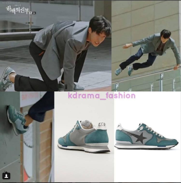 Đôi sneaker của GOLDEN GOOSE DELUXE mang tới diện mạo trẻ trung, năng động cho Nam Joo Hyuk có giá 428 USD (9,8 triệu đồng).