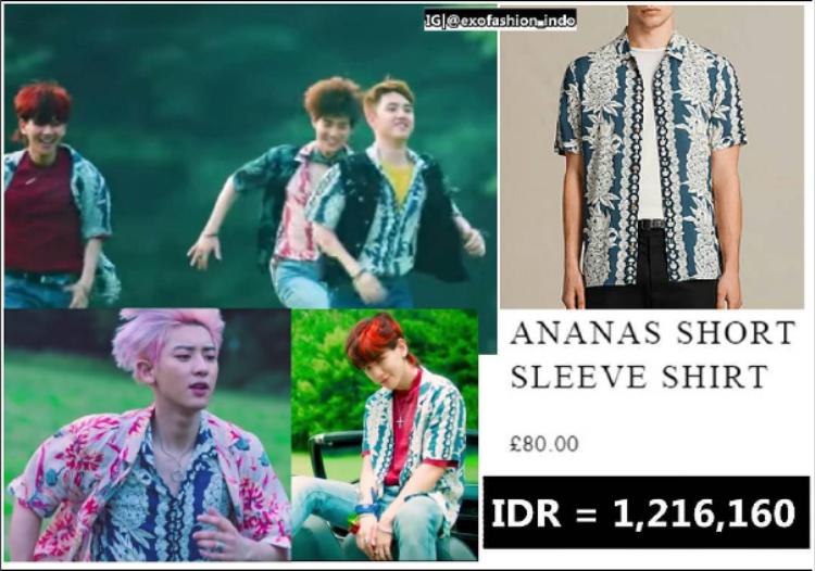 Có một sự thật là trang phục mặc trong MV đượchoán đổi cách mix giữa các thành viên trong từng khung hình khác nhau. Chanyeol, Baekhyun và DO đều diện chung Ananas short sleeve shirt với £ 80 (2,3 triệu).
