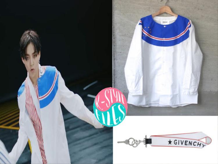 Áo Digawel và chiếc vòng cổ của Givenchy trong một cảnh diễn in door khi anh đang hết mình phiêu trong những vũ đạo.