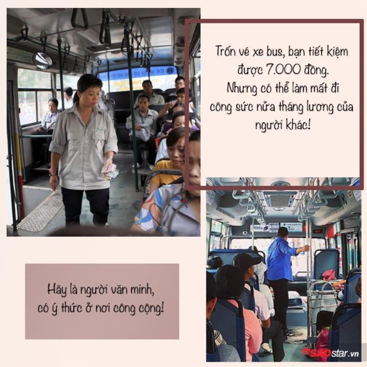 Trốn tiền vé và câu chuyện về sự thiếu văn hoá của cô nữ sinh đại học trên chuyến xe bus ở Sài Gòn
