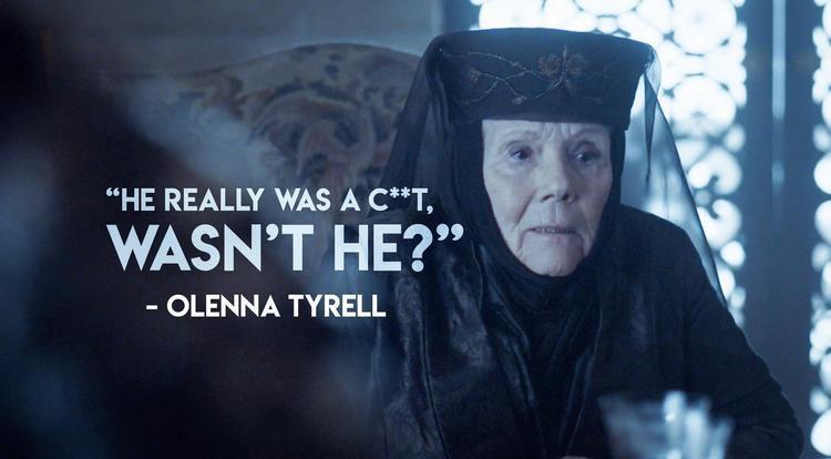 Olenna tiết lộ mình là người ám sát vua Joffrey để giày vò Jaime Lannister.