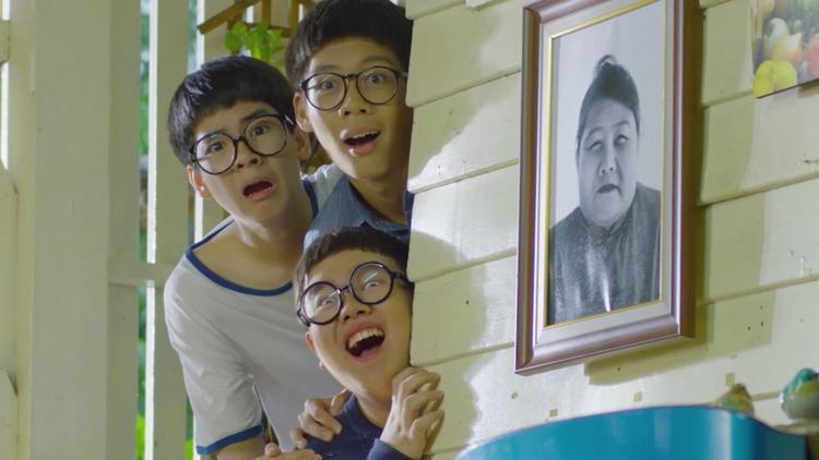 Đầu gáo dừa và kính Nobita là công thức tạo nên ngoại hình ngáo ộp, hài hước của 3 nhân vật