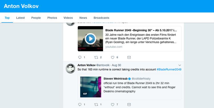 … và Twitter cá nhân của Anton Volkov.