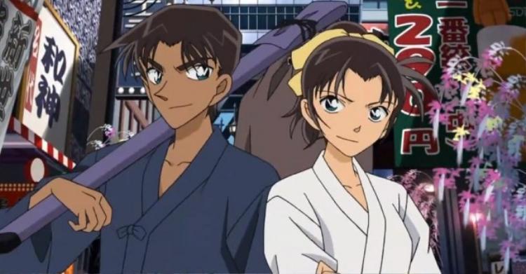 Chuyện tình Hattori  Kazuha được khai thác chi tiết trong phim Conan 21