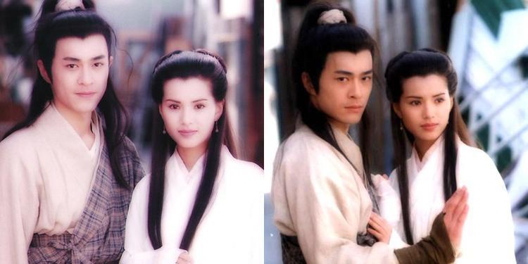 Cổ Thiên Lạc (vai Dương Quá) và Lý Nhược Đồng (vai Tiểu Long Nữ)