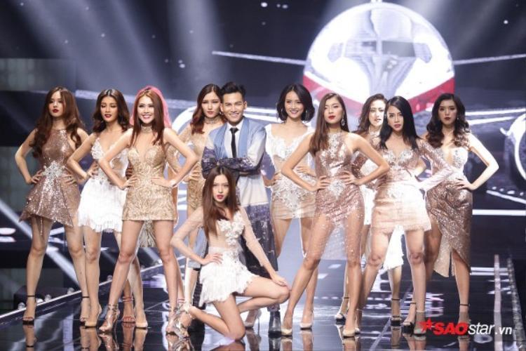 Ali Hoàng Dương pose dáng bên top 11 The Face.