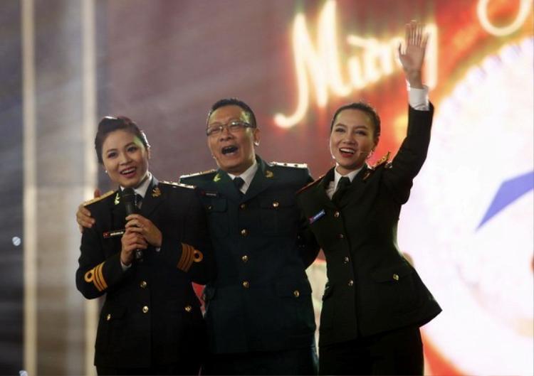 MC Lại Văn Sâm trong chương trình Chúng tôi là chiến sĩ.