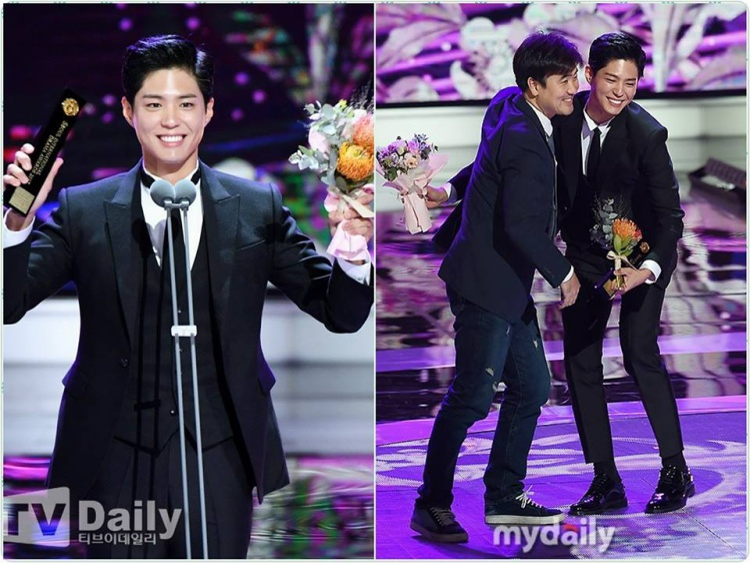 Park Bo Gum gửi lời chúc phúc cho cặp đôi Song  Song khi được vinh danh tại Seoul Drama 2017