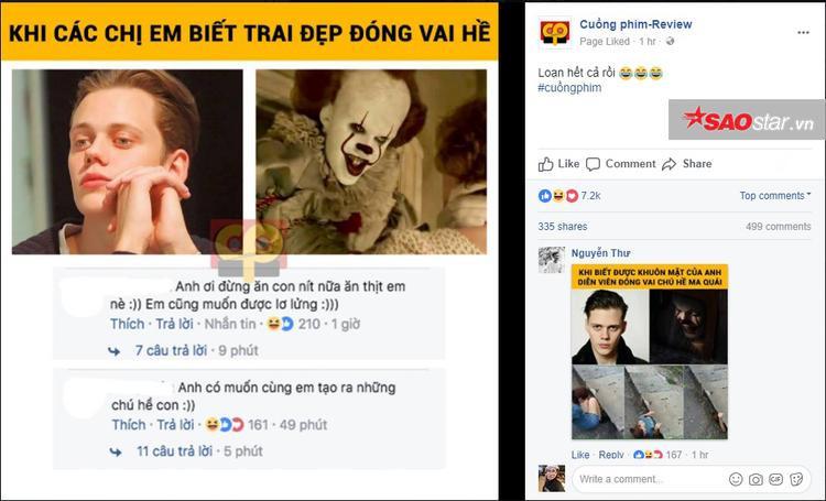 Fanpage còn chia sẻ lại loạt comment ấn tượng của cư dân mạng về chân dung anh hề.