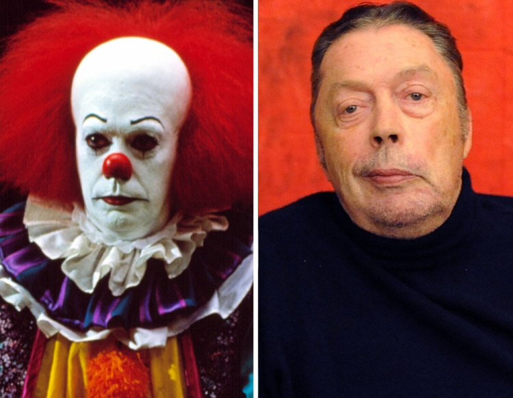 Tim Curry trong vai gã hề ma quái Pennywise.