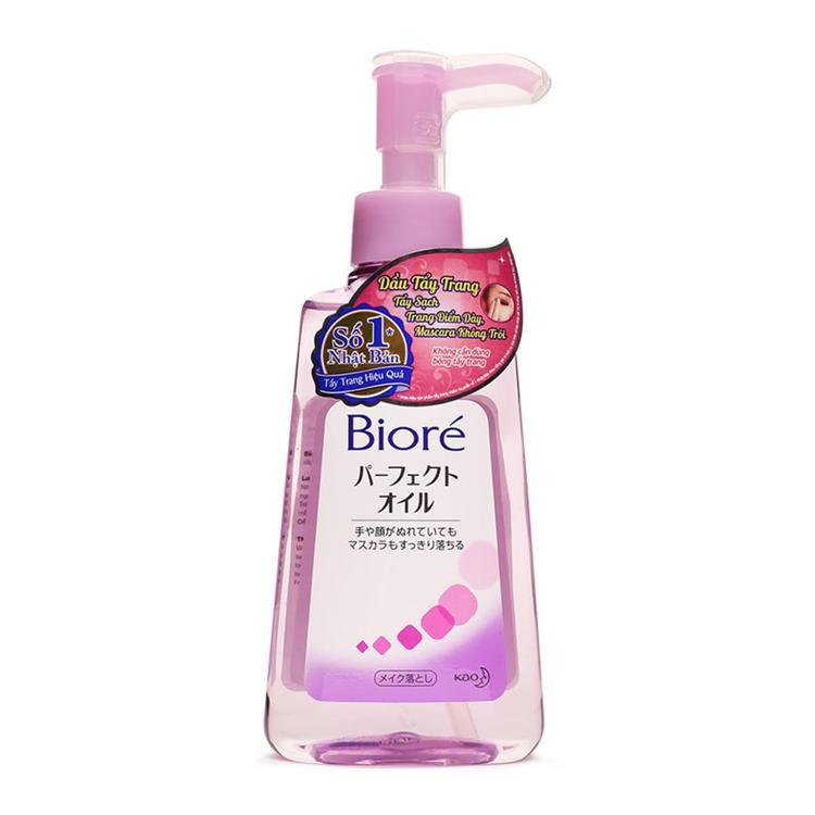 Dầu tẩy trangBiore Makeup Removing Perfect Oil dễ dàng tẩy sạch mọi lớp makeup, kể cả những sản phẩm waterproof