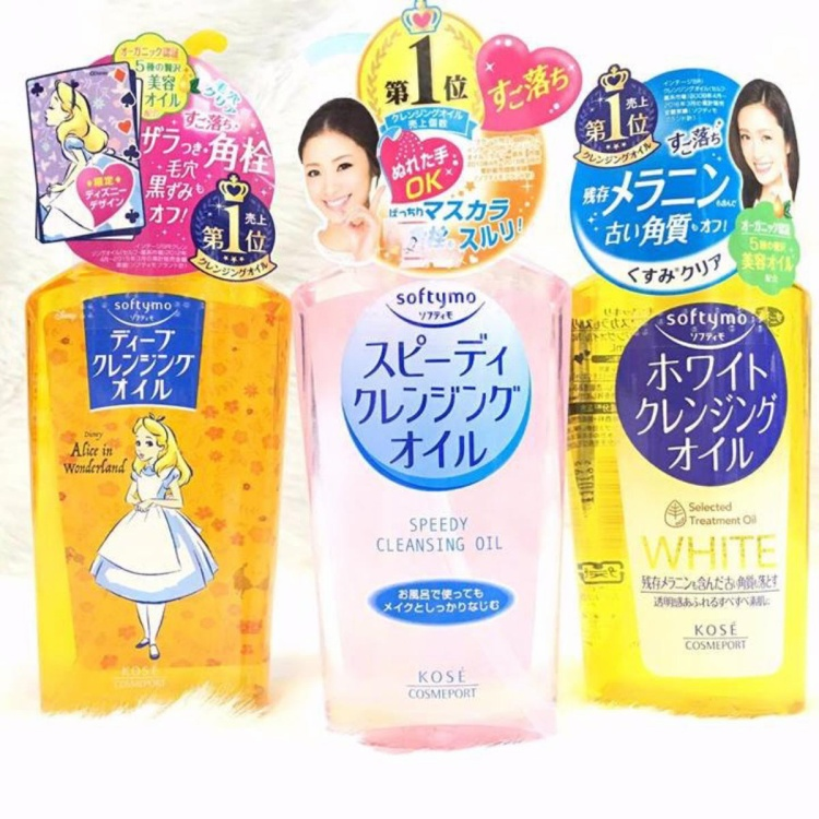 Dầu tẩy trang Kose -Softymo Cleansing Oil làm sạch, không gây khô da, thích hợp cho da nhạy cảm