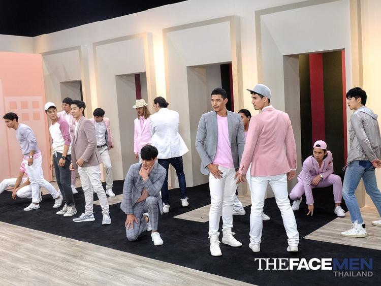 Các thí sinh The Face Men lần đầu cho thấy kĩ năng nhảy của mình.