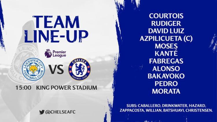 Đội hình ra sân của Chelsea.