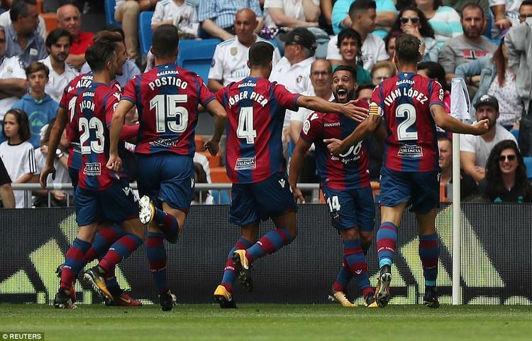 Levante vượt lên dẫn trước nhờ bàn thắng của Lopez.