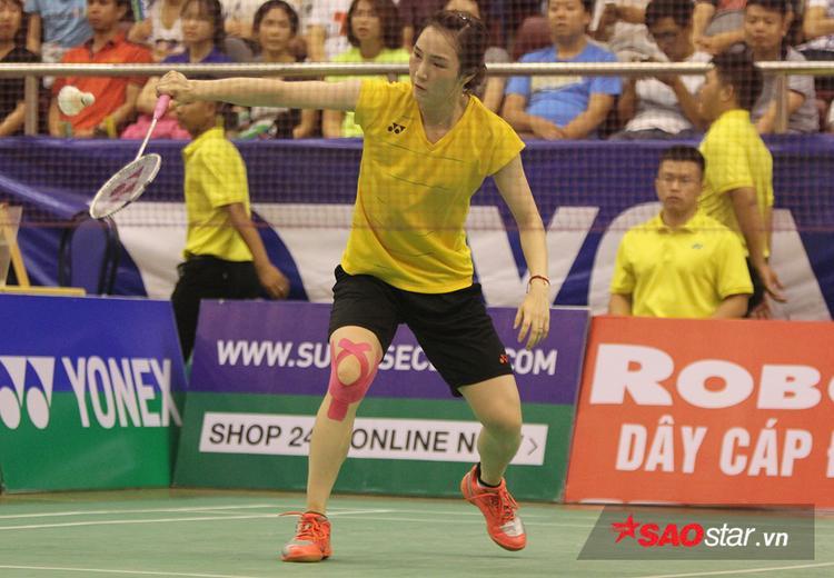 Vũ Thị Trang thi đấu cực hay dù đang bị đau chân.