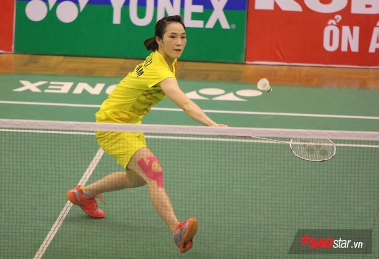 Vũ Thị Trang thi đấu tại chung kết Việt Nam Open 2017.