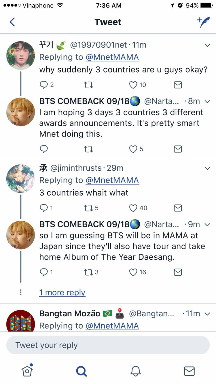 Twitter chính thức MAMA cũng đã công bố Việt Nam, fan quốc tế hoang mang không biết chia giải kiểu gì ở 3 nơi?