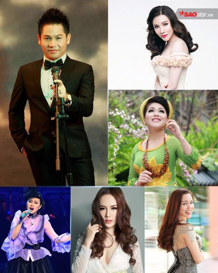 Các ca sỹ thành danh từ cuộc thi Sao Mai: Trọng Tấn, Anh Thơ, Hồ Quỳnh Hương, Khánh Linh, Ngọc Anh, Phương Linh