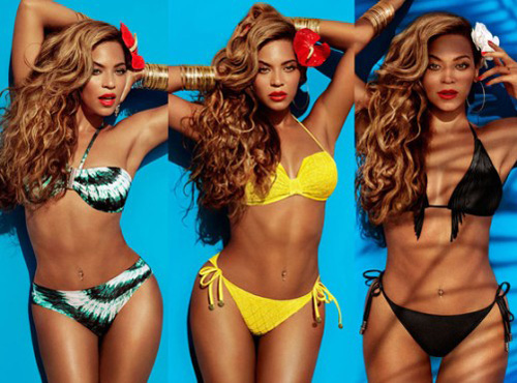 """Hình ảnh cơ thể đã qua """"cắt gọt"""" của Beyonce."""