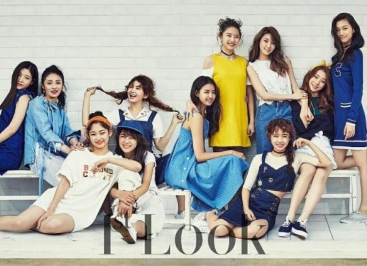 11 cô nàng I.O.I trên trang bìa tạp chí LOOK.