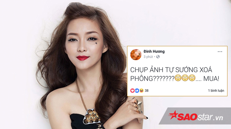 """Quá ấn tượng với chức năng chụp ảnh tự sướng xóa phông, ca sĩ Đinh Hương không chần chừ mà quyết định phải mua ngay chiếc điện thoại iPhone X đang """"sốt xình xich"""" này. Cô chốt lại bằng một từ """"mua"""" khi xem xong sự kiện ra mắt iPhone mới."""