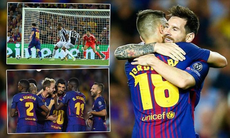 """Barca """"trả nợ"""" trước Juve."""