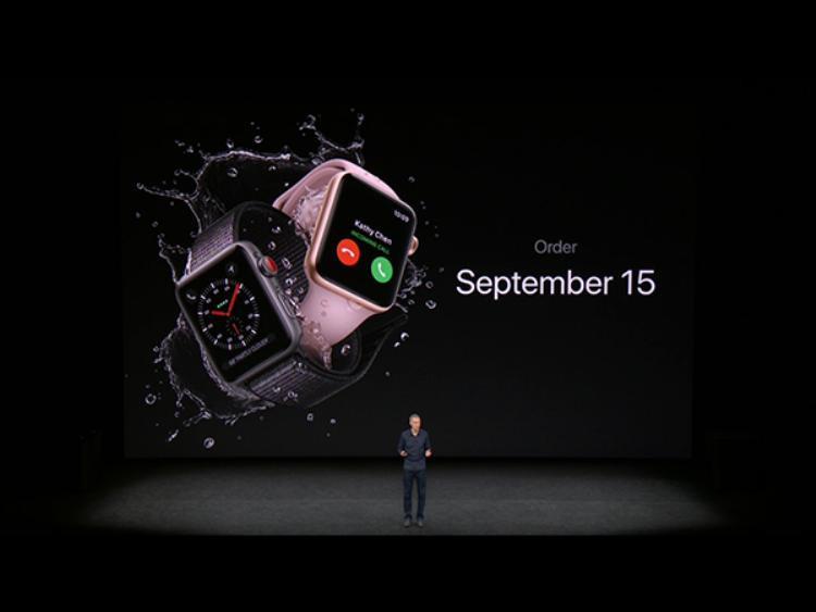 Apple cho phép người dùng đặt trước Apple Watch Series 3 từ 15/9.