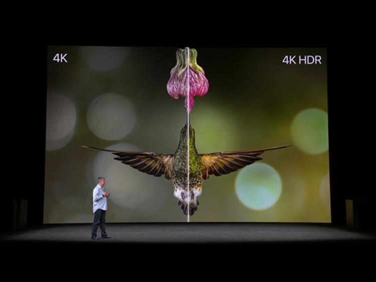 Chế độ 4K HDR được tích hợp trên Apple TV mới.