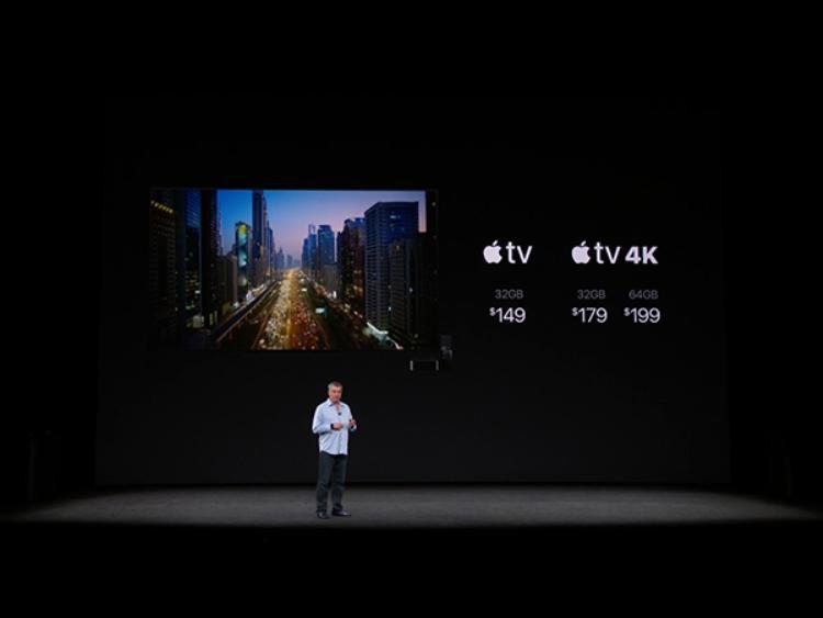 Giá bán của mẫu Apple TV mới tính theo đôla Mỹ.