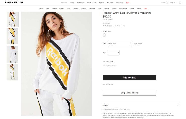 Nếu bạn mong muốn,mẫusweatshirt màAriana Grande biến tấu thành oversized hoodie kia có giá $55 (tương đương 1.265.000 VNĐ), xuất -pháttừ bộ sưu tập mới nhất mùa Thu Đông 2017.