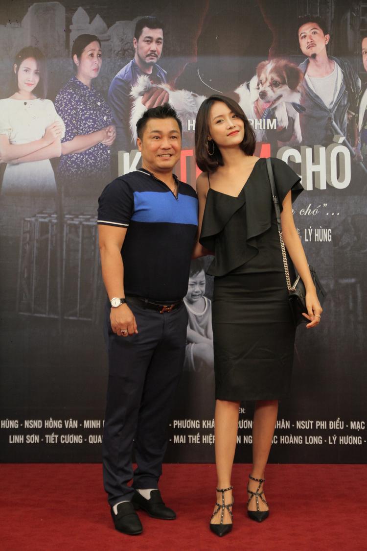Trương Mỹ Nhân cùng diễn viên Lý Hùng.