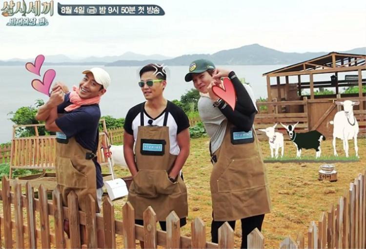Bộ ba mỹ nam đáng yêu của làng chài Three Meals a Day mùa này.