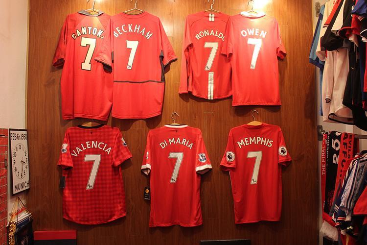 Những chiếc áo số 7 gần nhất của Man Utd.