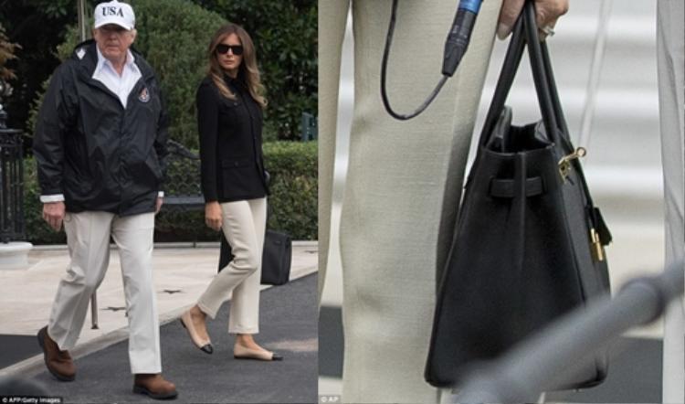 Giày Chanel giá 750 USD và Túi Birkin màu đen của Hermes giá 12.200 USD