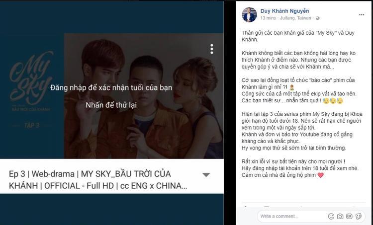 Chia sẻ của Duy Khánh về sự việc đáng tiếc này.