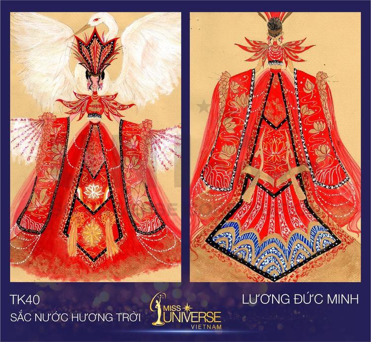 Bộ trang phục lấy ý tưởng từ trang phục thời Âu Lạc của Việt Nam của cậu học sinh lớp 9 Lương Tiến Minh với hình ảnh đặc trưng là hoa sen.