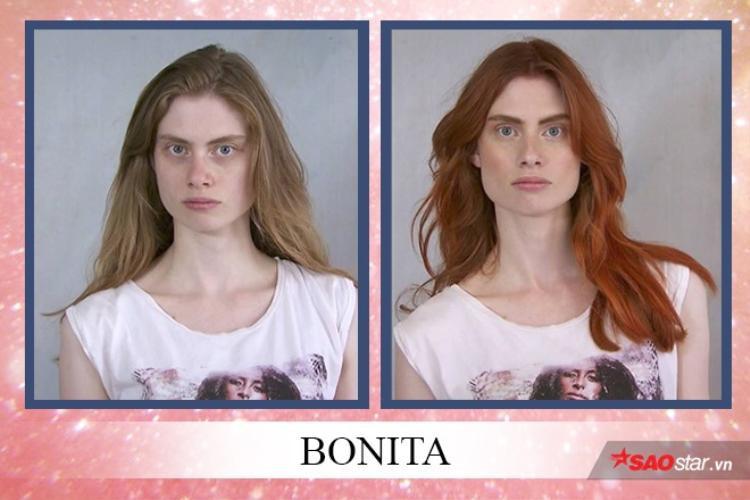 Bonita là thí sinh có được màu tóc ấn tượng nhất sau khi makeover.