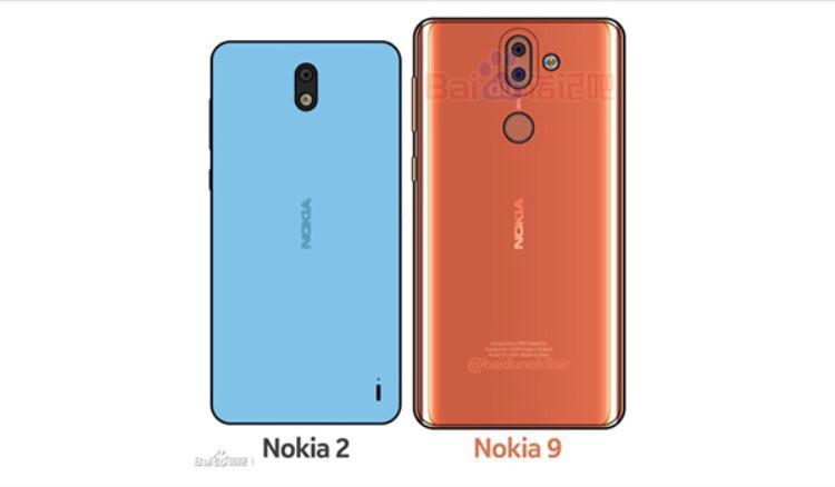 Bản dựng mặt lưng của Nokia 8 và Nokia 9 bởi 'thánh dựng công nghệ' Waqar Khan.
