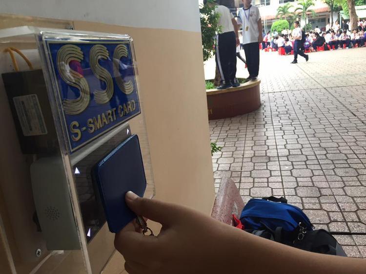 THCS Trần Văn Ơn là trường học đầu tiên ứng dụng công nghệ vào việc điểm danh.