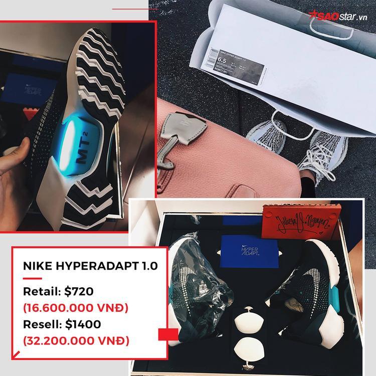 """Có cảNike HyperAdapt 1.0, một trong mẫu giày thông minh, sử dụngcông nghệ auto lacing (tự thắt dây) đầu tiên trên thế giới.Nike HyperAdapt 1.0đượcthiết kế từ bàn tay, khối óc đại tài của """"phù thủy"""" Tinker Hatfield và dĩ nhiên, để sở hữu chúng trong 1000 đôi bán ra khó tựa bắt mây."""